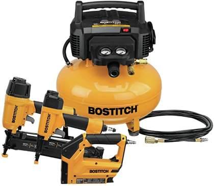 BOSTITCH Air Compressor Combo Kit, 3-Tool