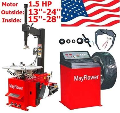 Mayflower 1.5 HP Tire Changer Wheel Changers Balancer Machine Combo