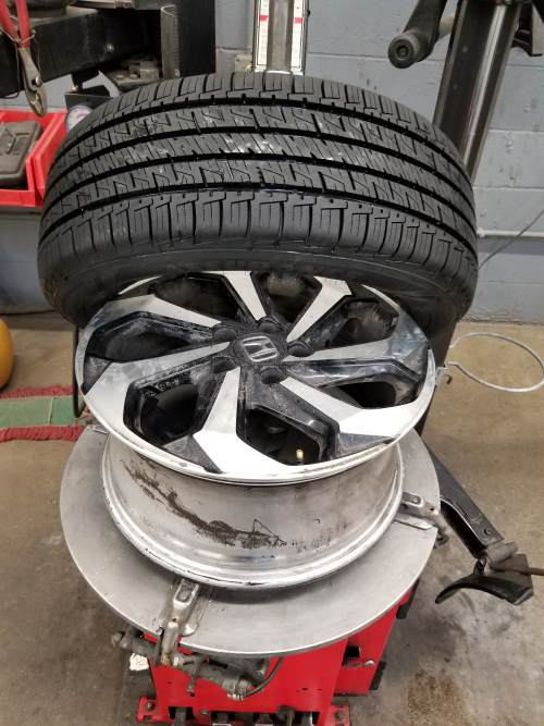complete dismounting of the tire