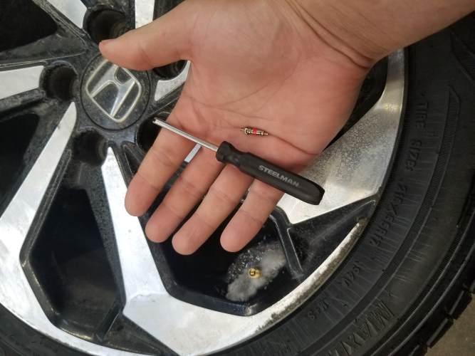 deflate the tire
