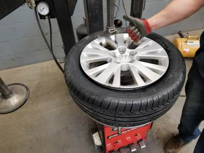 fully mounted tire image