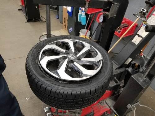 fully mounted tire