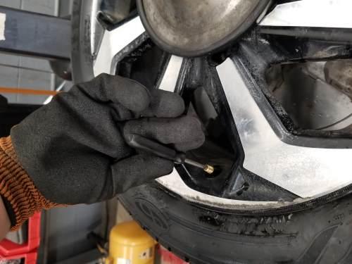 reinstalling the valve core