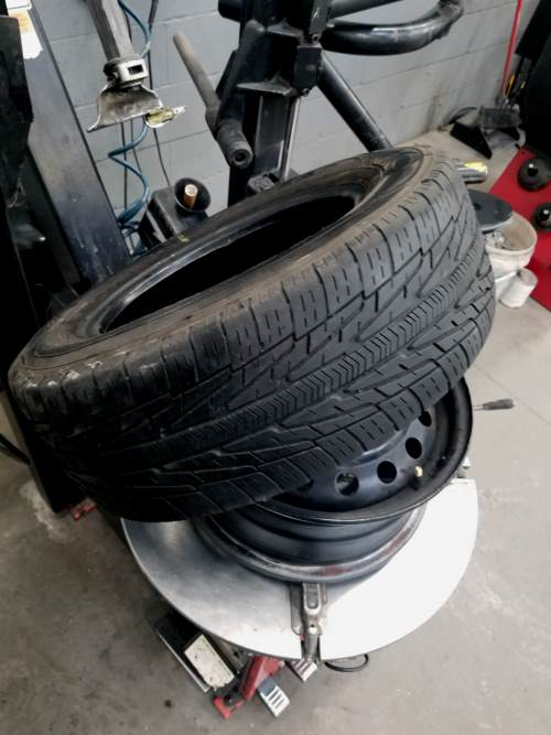 remove the tire from the rim