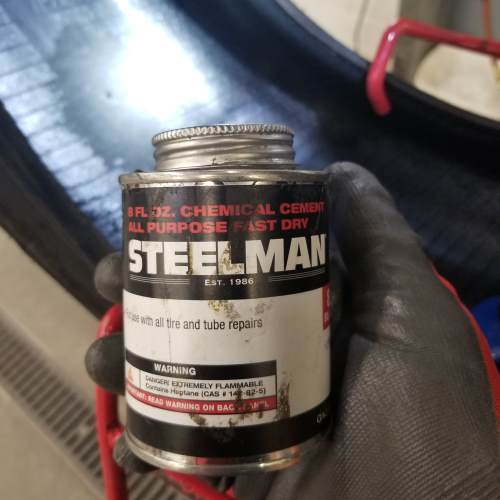 Rubber cement is needed to repair a tire